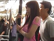 rape gangbang gals in the crowded bus 3