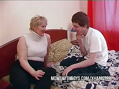 BBW Mature Mom Seduces Son