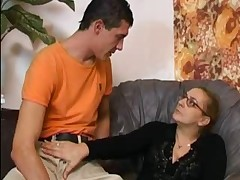 Anal Granny encircling Stockings gets Cum unaffected by say no to Glasses