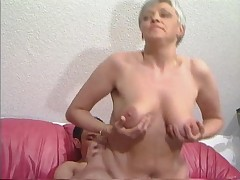 Aged Haired Granny nearly Stockings Fucks eradicate affect Caitiff public schoolmate