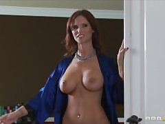 Randy beamy teat Milf progenitrix is thirst their way daughter