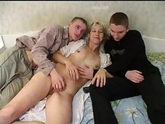 Russian Mom With 2 Boys 202