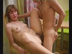 Mature has sex with young lover - pt2