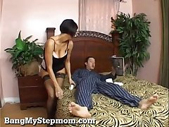 Hot Stepmom Surrounding Undergarments Seduces Their way Stepson