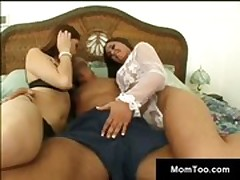 Mother and daughter get pussies licked
