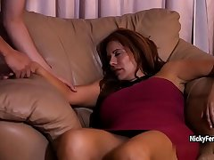 Juicy mature redhead is having a surprise while she s