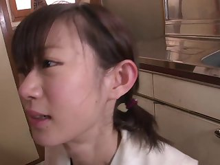 Young Japanese babe loves semen in her mouth