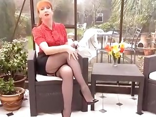 Mature British Redhead Masturbation