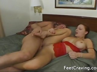 Attractive miss foot fetish