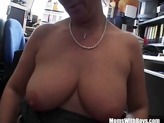 Office Fuck With Mature Brunette Slut