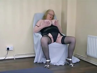 Granny playing with herself