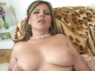 Cute big breasted MOM fucking in POV style