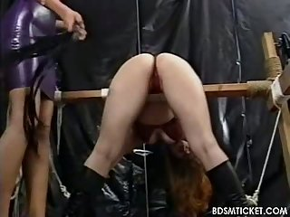 Mistress beats her body