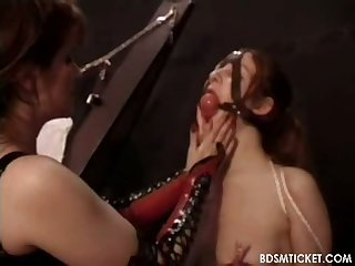 Slave tits clamped