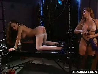 Slave's body is flogged