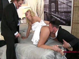 Hot sexy Aaliyah cuckolds her new husband