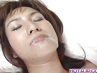 Hina sucks dick and has wet nooky fucked