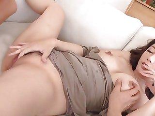 Japanese Uncensored Hotwife Fucks 2 Cocks