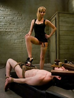 <!–-IMAGE_COUNT-–> of Slave boy trained to serve Gorgeous Dominant Pussy