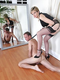 16 of Lady Sonia Slave On His Knees