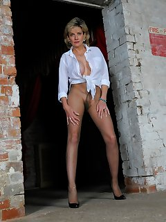 16 of Ripped pantyhose