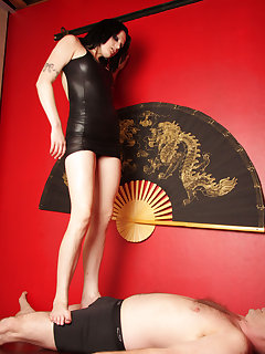 12 of Annika having an erotic foot session with her slave
