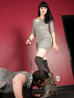 12 of Mistress O makes her doggy slave crawl and kiss her boots