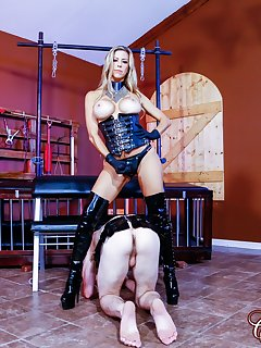 <!–-IMAGE_COUNT-–> of Alexis Fawx Humiliating her Two Slaves 2