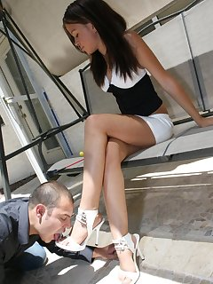 16 of Malesub-dog worshipped mistress` feet