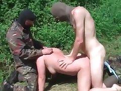 Outdoors brutal rape of a beautiful girl