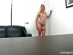 Sexy blonde babe goes crazy sucking film 12
