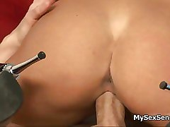 Sexy blonde babe gets horny riding movie 5