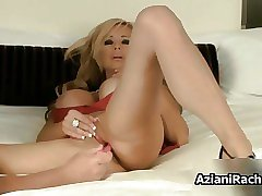 Hot blonde milf with big tits gets horny