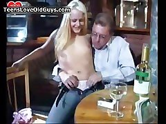 Nasty blonde slut gets horny sucking film 3