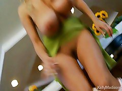 Big boobed babe finds her favorite toy and rubs one out film 2