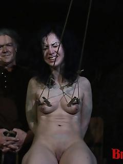 15 of Brunette Loredana BDSM Gang Bang