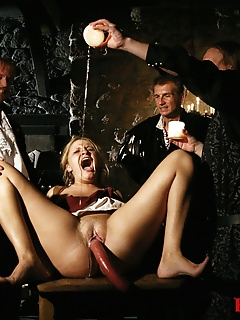 15 of Blonde Magda BDSM Gang Bang