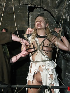 15 of Blonde Magda is thrown in the dungeon and forced to go through BDSM Gang Bang