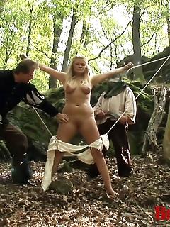 15 of Blonde Magda Gets Gangbanged Mercilessly in Prison