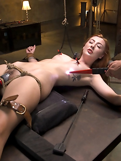 31 of Redheaded Girl Next Door Megan Winters Fucked in Brutal Rope Bondage!