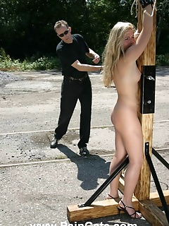 15 of Tied and brutally whipped outdoor
