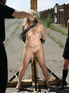 15 of Brutal outdoor whipping