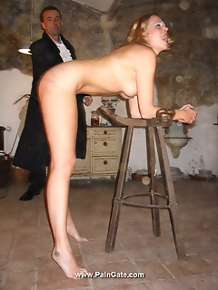 15 of Blonde slave brutally whipped in dungeon